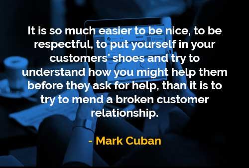 Kata-kata Bijak Mark Cuban Bersikap Baik - Finansialku