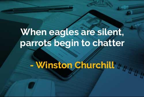 Kata-kata Bijak Winston Churchill Ketika Elang Diam - Finansialku