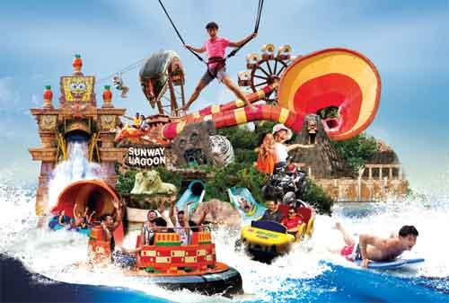 Tempat Wisata di Malaysia 11 Sunway Lagoon Theme Park - Finansialku