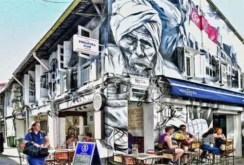 Tempat Wisata di Singapura 07 Haji Lane - Finansialku