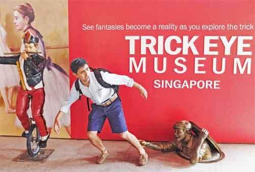 Tempat Wisata di Singapura 13 Trick Eye Museum - Finansialku