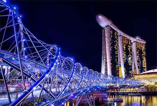 Tempat Wisata di Singapura 25 Helix Bridge - Finansialku