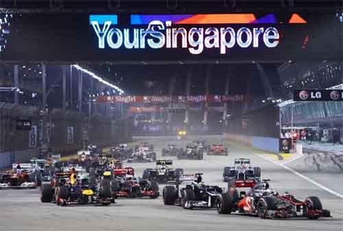 Tempat Wisata di Singapura 28 F1 Race - Finansialku