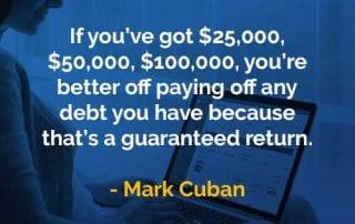 Kata-kata Bijak Mark Cuban Melunasi Utang - Finansialku