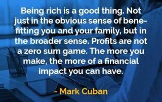 Kata-kata Bijak Mark Cuban Menjadi Kaya - Finansialku