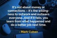 Kata-kata Bijak Mark Cuban Uang Atau Koneksi - Finansialku