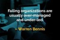 Kata-kata Bijak Warren Bennis Organisasi yang Gagal - Finansialku