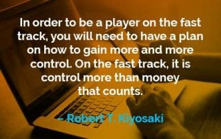 Kata-kata Motivasi Robert T. Kiyosaki Menjadi Pemain di Jalur Cepat - Finansialku
