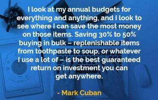 Kata-kata Bijak Mark Cuban Melihat Anggaran Tahunan - Finansialku