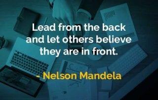 Kata-kata Bijak Nelson Mandela Pimpin Dari Belakang - Finansialku