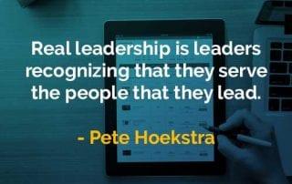Kata-kata Bijak Pete Hoekstra Kepemimpinan yang Nyata - Finansialku