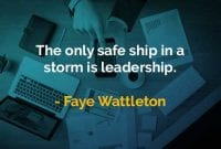 Kata-kata Bijak Faye Wattleton Kapal yang Aman - Finansialku