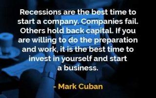Kata-kata Bijak Mark Cuban Resesi Adalah Waktu Terbaik - Finansialku