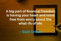 Kata-kata Motivasi Suze Orman Bagian Terbesar dari Kebebasan Finansial - Finansialku