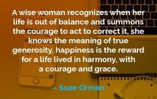Kata-kata Motivasi Suze Orman - Finansialku