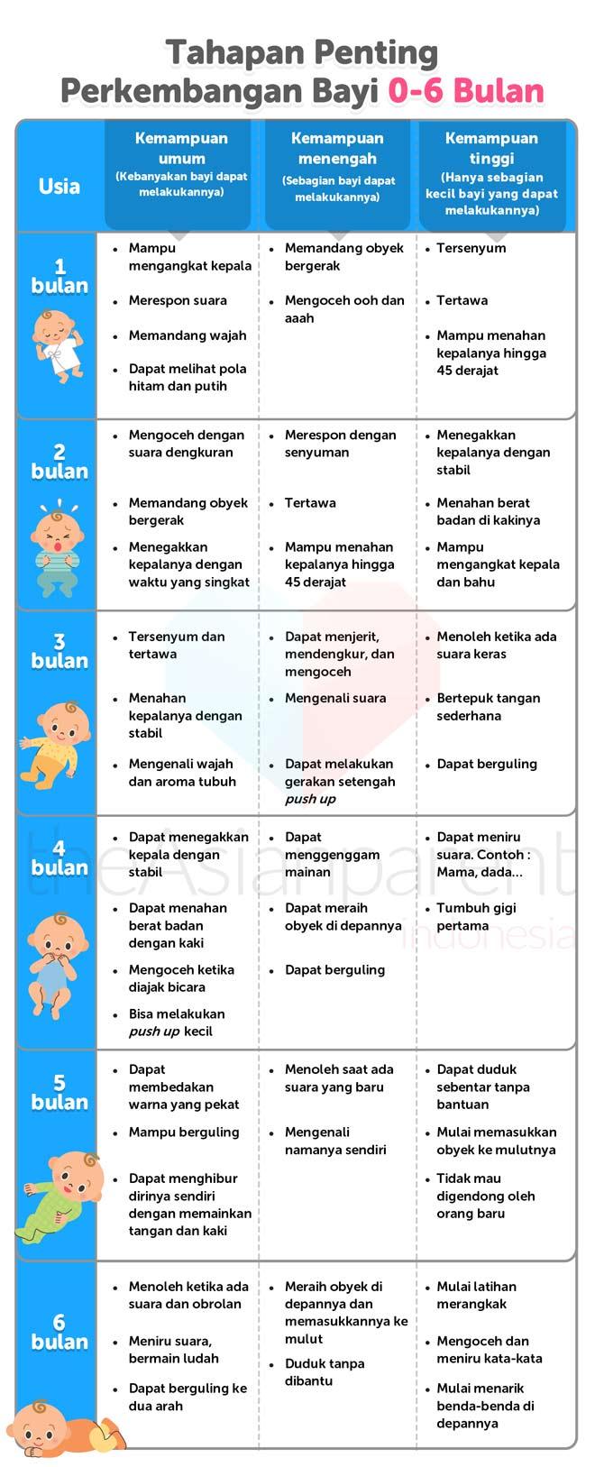 IH017 - Tabel Tumbuh Kembang Bayi 0-6 Bulan