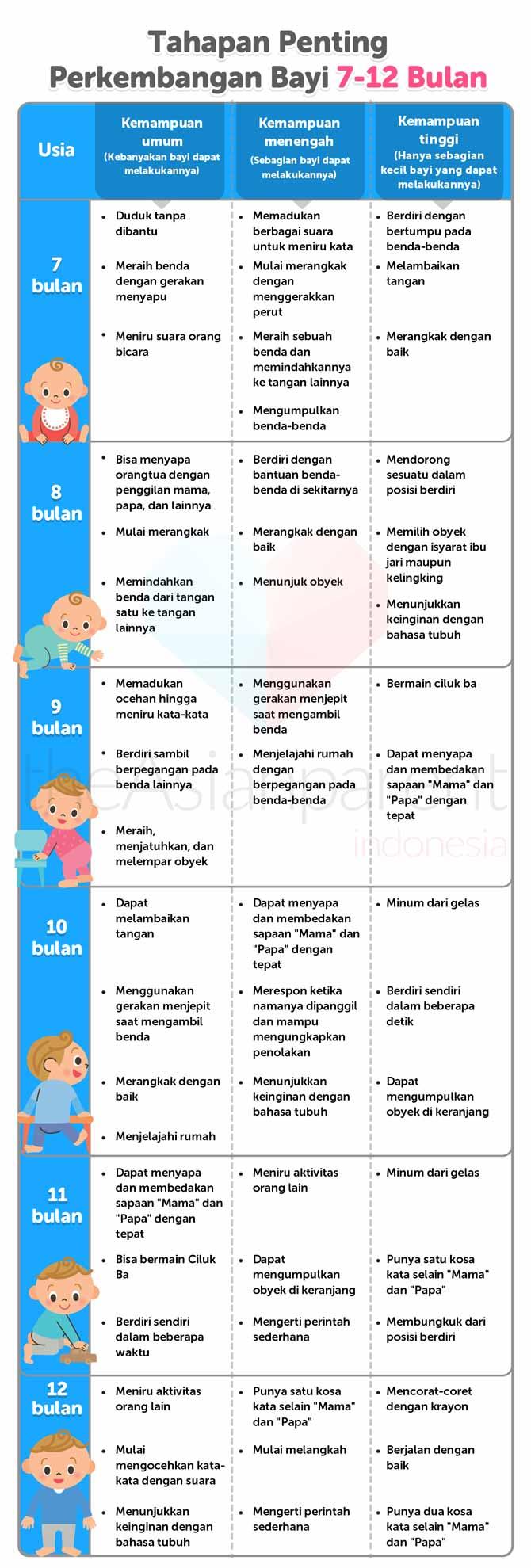 IH017 - Tabel Tumbuh Kembang Bayi 7-12 Bulan