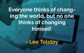 Kata-kata Bijak Leo Tolstoy Mengubah Dunia - Finansialku