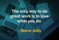 Kata-kata Bijak Steve Jobs Melakukan Pekerjaan Hebat - Finansialku