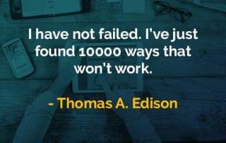 Kata-kata Bijak Thomas Alva Edison Tidak Gagal - Finansialku