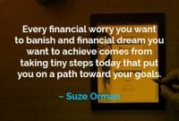 Kata-kata Motivasi Suze Orman Mengambil Langkah-langkah Kecil - Finansialku