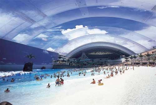 Kolam Renang Termahal di Dunia 04 Seagaia Ocean Dome - Finansialku