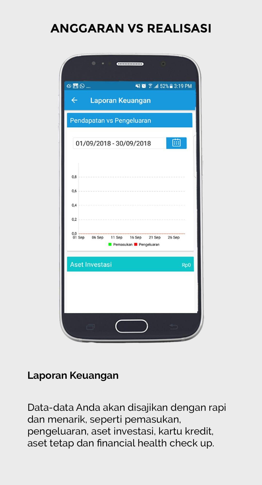 Aplikasi Finansialku - Anggaran vs Realisasi - Catatan Keuangan Harian