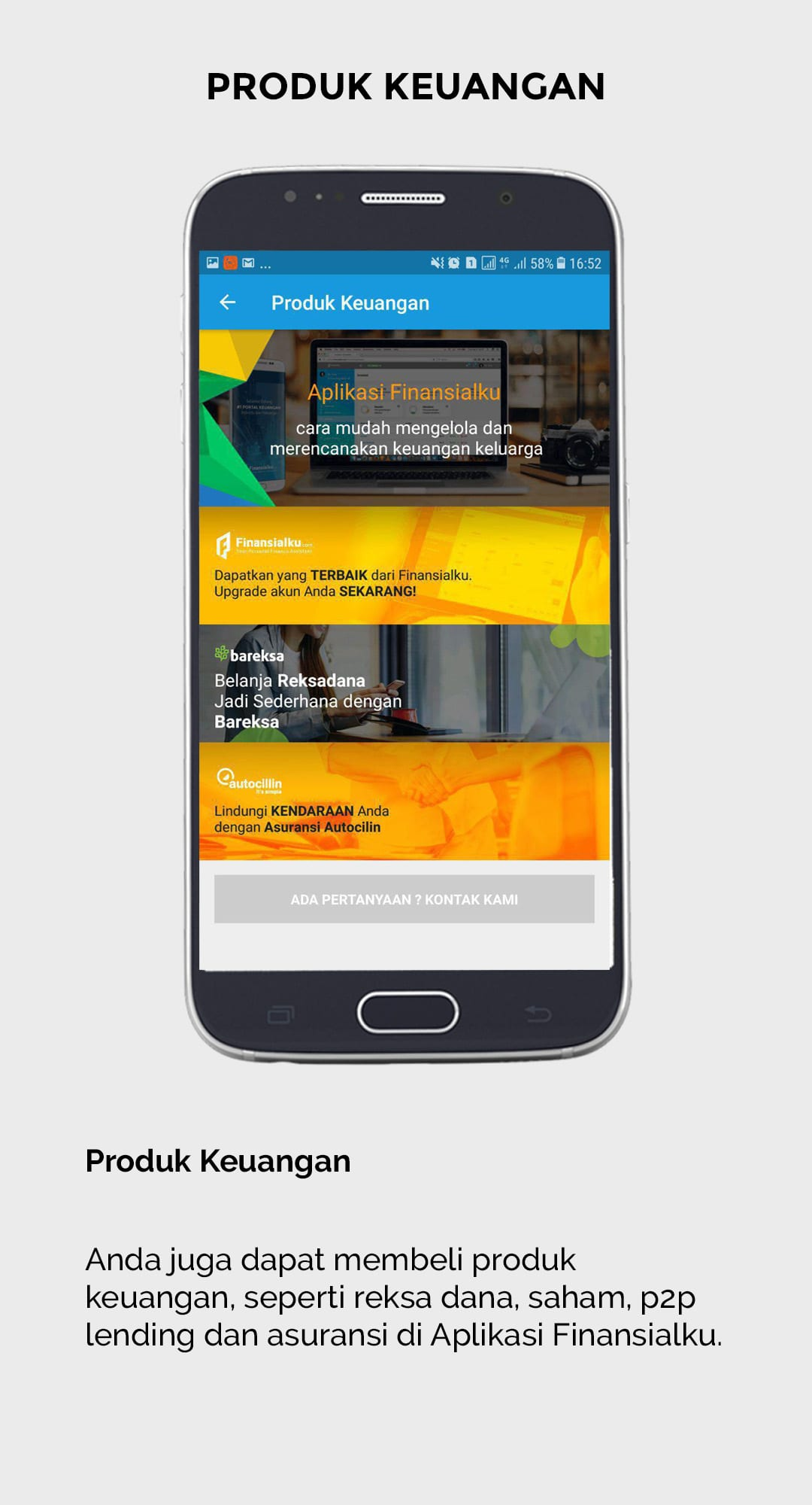 Aplikasi Finansialku - Laporan Keuangan - Catatan Keuangan Harian