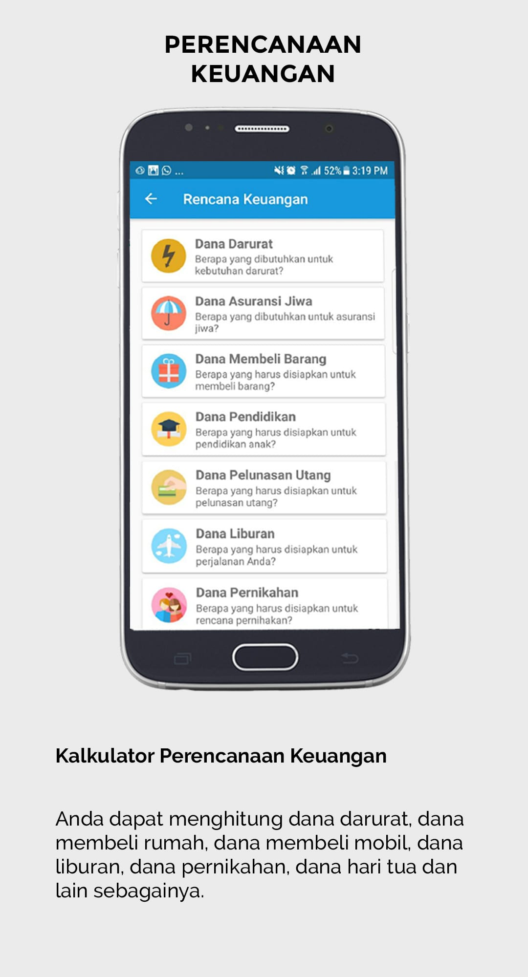 Aplikasi Finansialku - Perencanaan Keuangan - Catatan Keuangan Harian