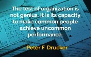 Kata-kata Bijak Peter Drucker Tes Organisasi - Finansialku