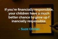 Kata-kata Motivasi Suze Orman Bertanggung Jawab Secara Finansial - Finansialku