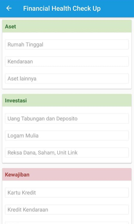 Financial Health Check Up Aplikasi Finansialku 3