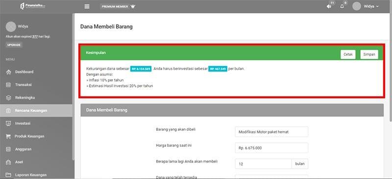 Fitur Dana Membeli Barang Aplikasi Finansialku Modifikasi Motor 3