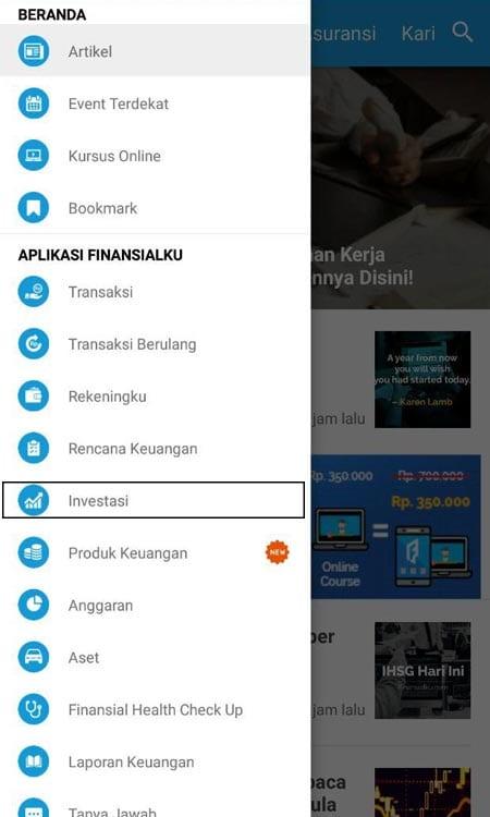 Investasi (Menghitung Deposito) Aplikasi Finansialku
