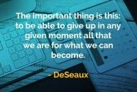 Kata-kata Bijak DeSeaux Dapat Menyerah - Finansialku