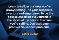 Kata-kata Bijak Mark Cuban Belajar Untuk Menjual - Finansialku