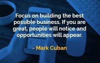 Kata-kata Bijak Mark Cuban Fokus Membangun Bisnis - Finansialku