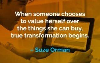 Kata-kata Motivasi Suze Orman Menghargai Dirinya Sendiri - Finansialku