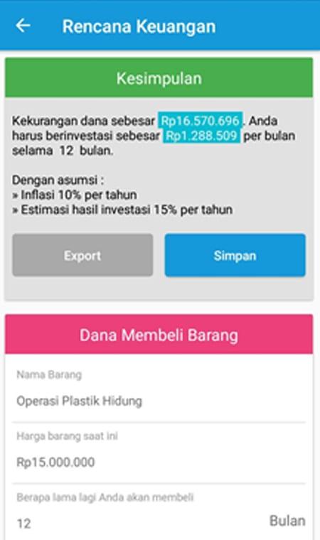 Rencana Keuangan Aplikasi Finansialku 1