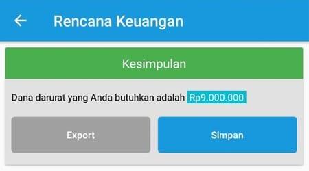 Rencana Keuangan Dana Darurat Single Aplikasi Finansialku 3