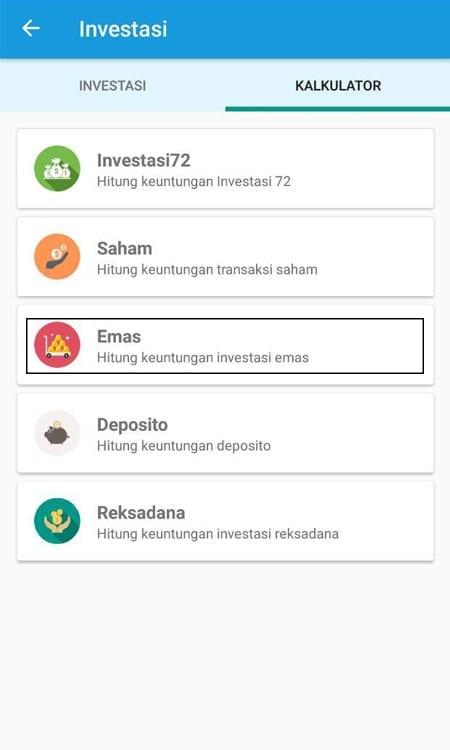 Simulasi Investasi Emas Aplikasi Finansialku 1