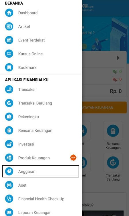 Anggaran Keuangan Aplikasi Finansialku