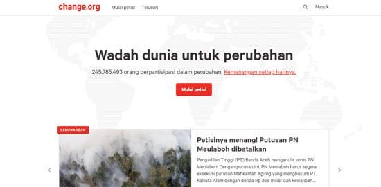 Donasi Online 10 (Change.org) - Finansialku