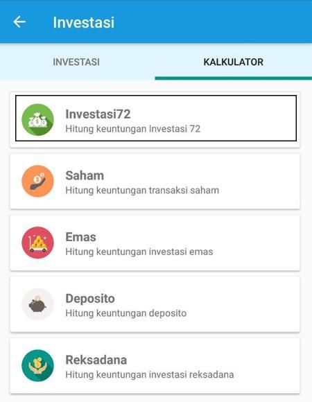 Kalkulator Investasi 72 Aplikasi Finansialku 01