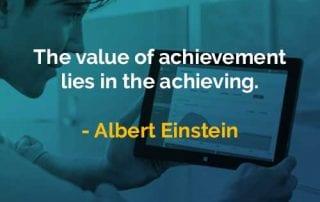 Kata-kata Bijak Albert Einstein Nilai Pencapaian - Finansialku