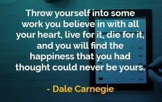 Kata-kata Bijak Dale Carnegie Lemparkan Diri Anda - Finansialku