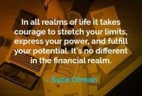 Kata-kata Motivasi Suze Orman Dibutuhkan Keberanian - Finansialku