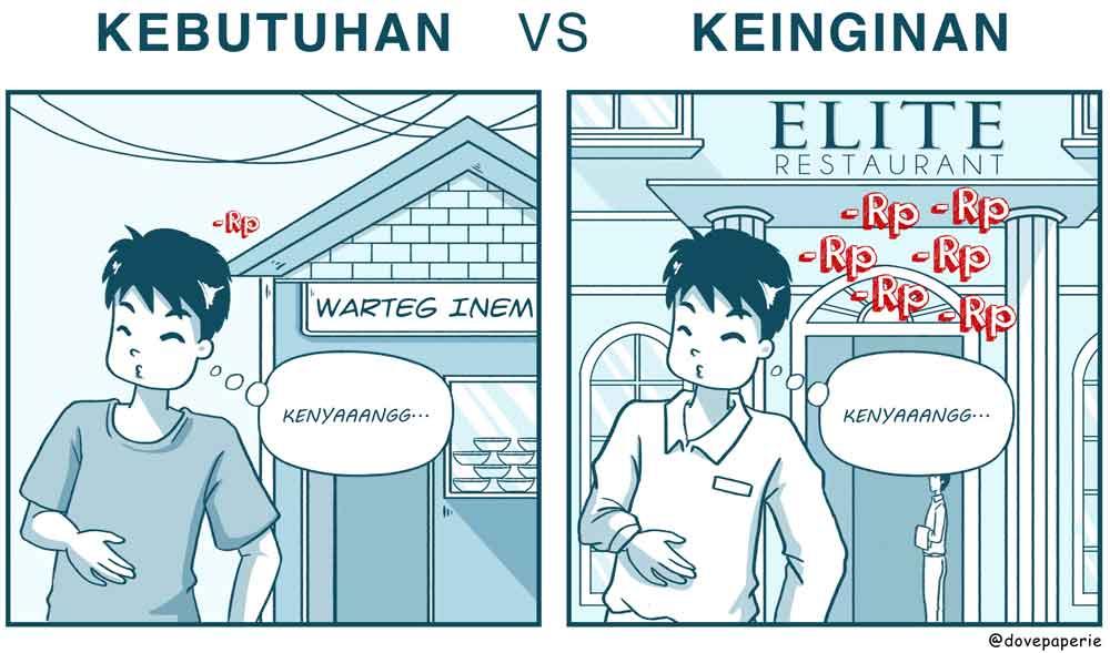 Komik Bedakan Kebutuhan dan Keinginan Supaya Kamu Ga Boros Lagi 03 - Finansialku