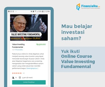 Iklan Banner Online Course Value Investing - Finansialku 336 x 280