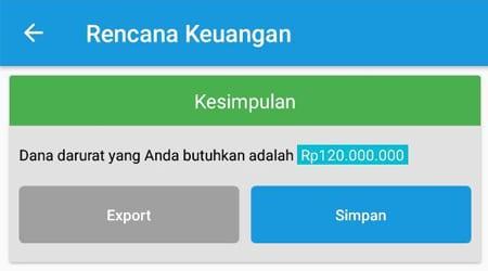 Rencana Keuangan Dana Darurat Aplikasi Finansialku 3